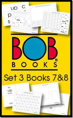 Free BOB Book Printables Set 3 Books 7 and 8
