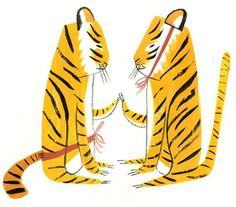 Ping Zhu tigers illustration
