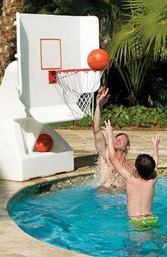 Pool Basketball Hoops.