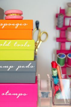 IHeart Organizing: DIY Gift Wrap Organization Station {made with the help of the Silhouette!}