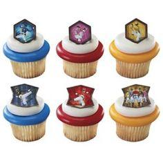 Power Rangers Party Supplies, Power Rangers Cupcake Rings