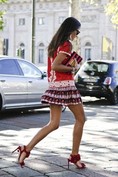 Love the skirt, love the shoes!