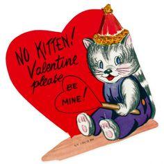 Vintage Valentine No Kitten