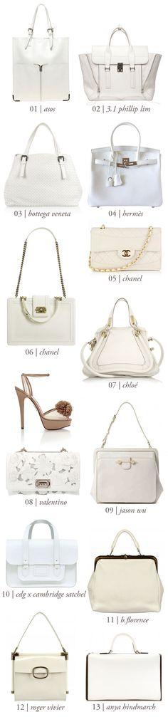 I love white purses!!!