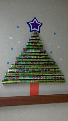 Christmas Tree Idea from Pinterest  Might be fun for the classroom!