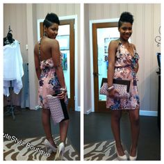 Ruffle Floral Dress 9199808081 to order or www.facebook.com/CuteStylzBoutique