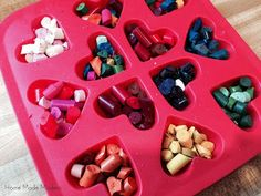 Recycled crayon valentine idea