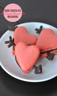 A sweet Valentine's Day recipe for Dark Chocolate Cupid Heart Macarons