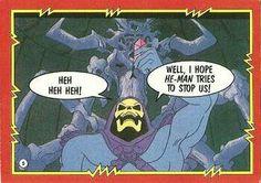 Skeletor in a MOTU trading card