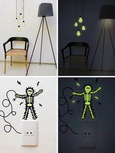 Cool use of Glow in the Dark décor.