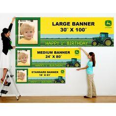 John Deere 1st Birthday Personalized Photo Banner, 76802