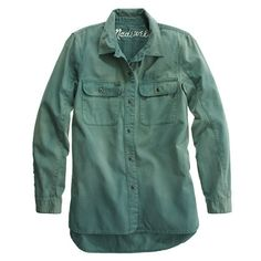Madewell Station workshirt, XS, spruce