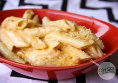 Three Cheese Penne (Macaroni) | Oh So Delicioso