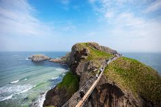 "Leslee Mitchell - ""I crossed the Carrick-a-Rede Rope Bridge while Northern Ireland for a wedding. It was beyond imagination."""