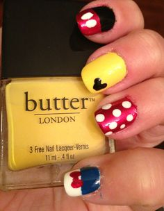Disney nails #rocktheyear #butterLONDON
