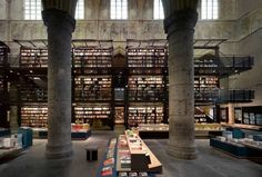 Venture Inside of Holland's Most Sacred Bookstore.  Dutch book retailers Selexyz decided that there was no better place for their latest bookstore to occupy than a 13th century Dominican cathedral in Maastricth, Holland. According to MyModernMet, the architects at Merkx + Girod jumped on the opportunity to fuse the old with the new and created a design for Selexyz Dominicanen Maastricht that integrates a thoroughly modern bookstore within the preserved historic structure.