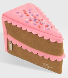 cake pouch, purs, felt, stuff, cakes, fashion tips, slice, clutch bags, thing