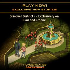 Ready to discover even more of Panem? Travel to District 1, only in The Hunger Games Adventures NOW available on iPhone & iPad! Click the pic to play it today!