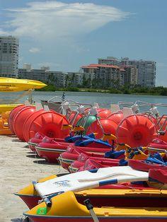 Beach 'entertainment' at Marco Island, Florida
