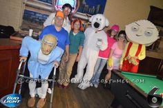 Awesome Family Guy Group Costume... Coolest Halloween Costume Contest