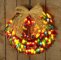 Christmas Craft: Shotgun Shell Wreath holiday, shell wreath, idea, christmas crafts, shotguns, redneck, diy, shotgun shells, wreaths