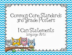Third Grade Common Core Posters-Owls