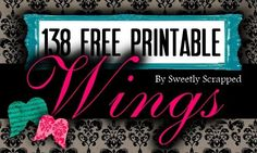Sweetly Scrapped: 138 Different Free Printable Angel Wings.