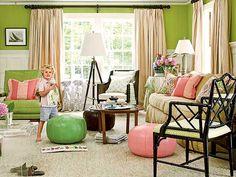 Peachy Keen Living Room