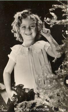 Shirley Temple celebrates Christmas, 1935.