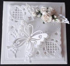 pretty in white butterfli, white card, kaarten, craft, lena papperspyssel, die cut cards, mariann