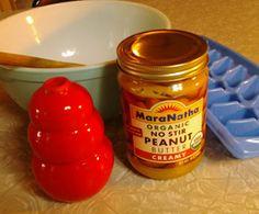 Cool treat dog treatsdiy, peanuts, dogs, pet, doggi, butter popsicl, puppi, diy dog treats peanut butter, dog stuff
