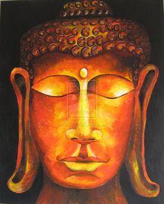 Sunset Buddha by HippyChickWoo.deviantart.com