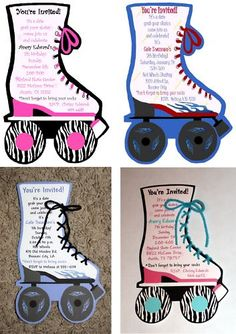 roller skating invitations