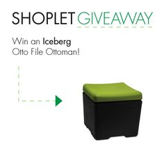 Win an Iceberg Otto File Ottoman! Repin, then go to our blog and leave us a comment about why you're so super excited for the holidays :) Good luck!