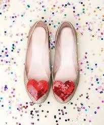 Confetti + hearts + shoes = love