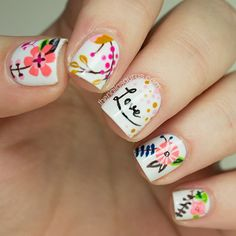 The Nailasaurus Freehand Nail Art Inspired by LucyDarlingPrints.