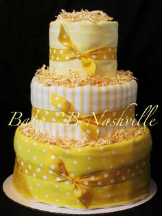 Yellow Diaper Cake