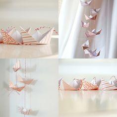 diy guirnalda barquito de papel manualidades niño paper boat garland  kids craft decoración infantil children  decoration miraquechulo