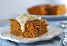 Skinny Pumpkin Bars-Substitute Pumpkin Puree For Butter and Oil