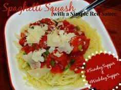 Spaghettie Squash w/Simple Red Sauce for #SundaySupper Momma's Meals