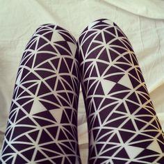 Black and White Geometric Print Leggings