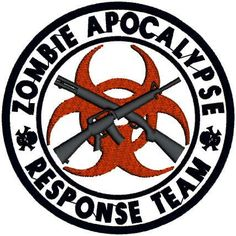 Machine Embroidery Design - In Hoop Applique Zombie Team Patch. $10.00, via Etsy.