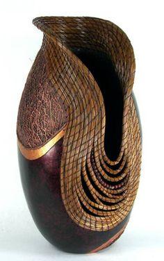 gourd artist, vase, galleri, wood, gorgeous gourd, carv, needl basket, gourds, judi richi