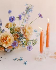 #sirenfloralco // siren floral co // distant drum rose // peach and blue florals // wedding florals // centerpiece