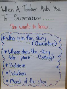 Great breakdown of how to summarize without overdoing it.... difficult for students of every age.