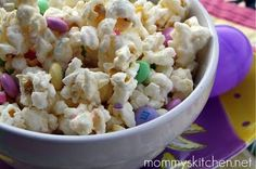 Easter Bunny Vanilla Popcorn Mix, for the Easter Egg Shoot!