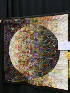 """Worlds Apart"" by Beatrice Gilbert(North Yarmouth, Maine). 2012.  Posted by Regan at Floating on a Quilted Cloud"