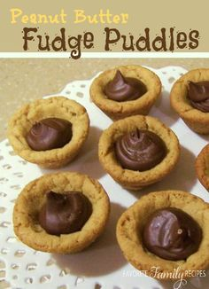 If you like peanut butter and chocolate – you have to try these Peanut Butter Fudge Puddles. #peanutbuttercookies #cookierecipe