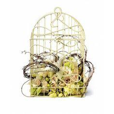 Modern Decorative Birdcage with Birds in Flight