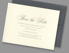 Kleinfeld Paper || Regal Save-the-Date